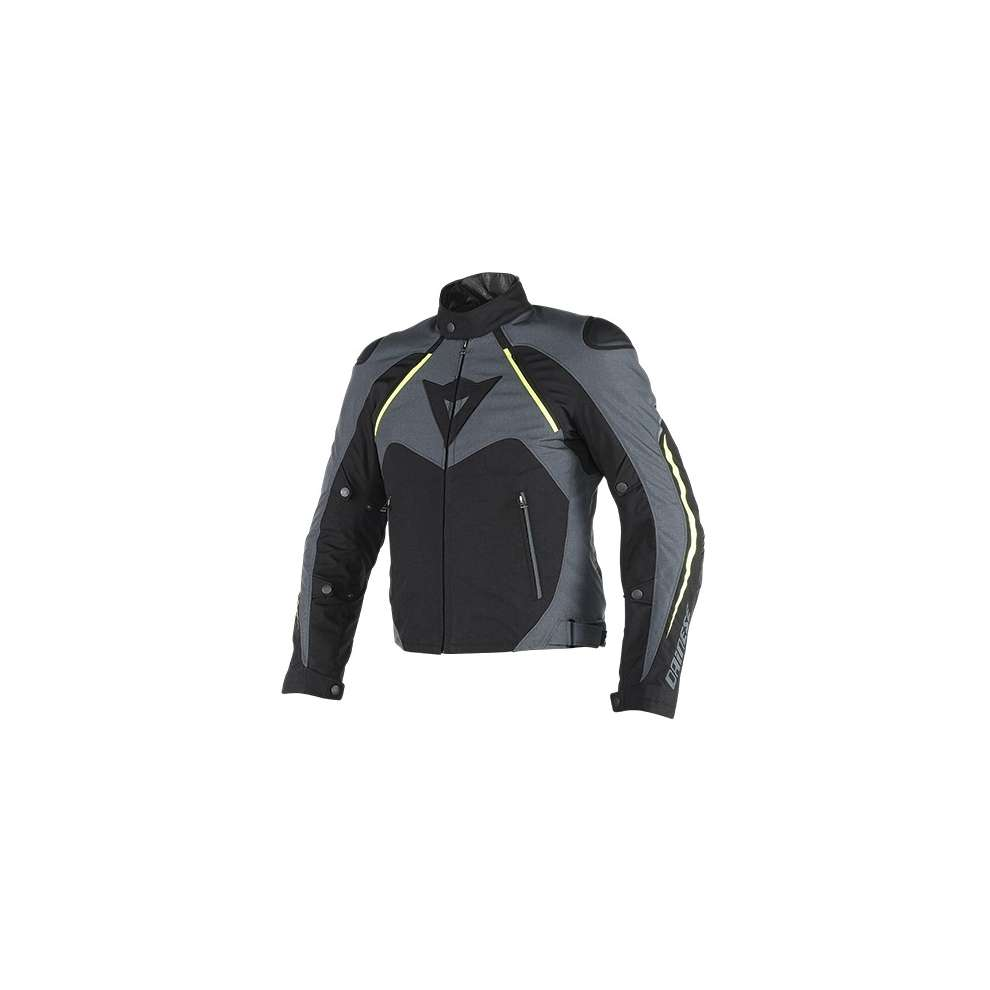 Giacca Hawker d-dry nero-ebano-giallo-fluo Dainese