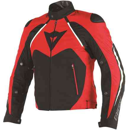 Giacca Hawker d-dry nero rosso bianco Dainese