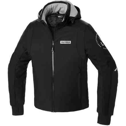 Giacca Hoodie Armor H2out Nero/Bianco Spidi