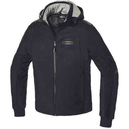 Giacca Hoodie Armor H2out Nero Spidi