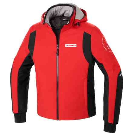 Giacca Hoodie Armor H2out Rosso Spidi