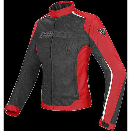 Giacca Hydra Flux D-Dry Lady nero-rosso Dainese