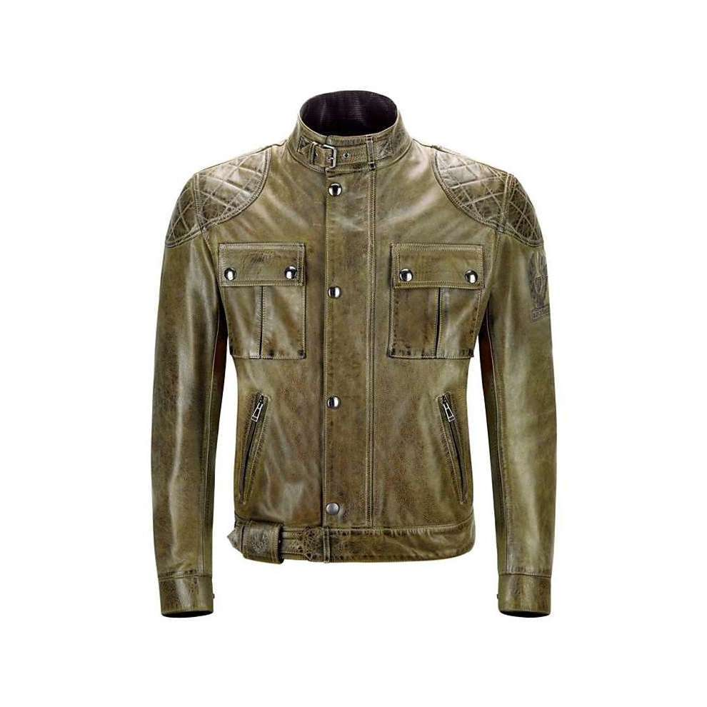 pelle Brooklands verde Pelle Giacche Blouson in Belstaff Giacca 4qwxWAO1vq