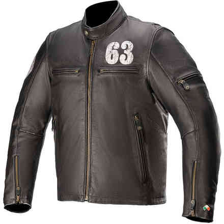Giacca in Pelle Sixty Three Nero Alpinestars