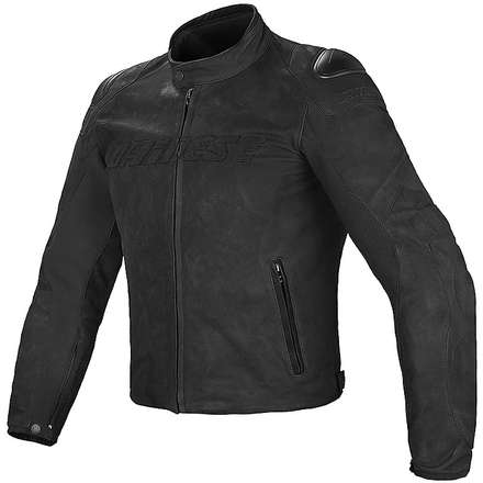Giacca in pelle Street Rider nero Dainese