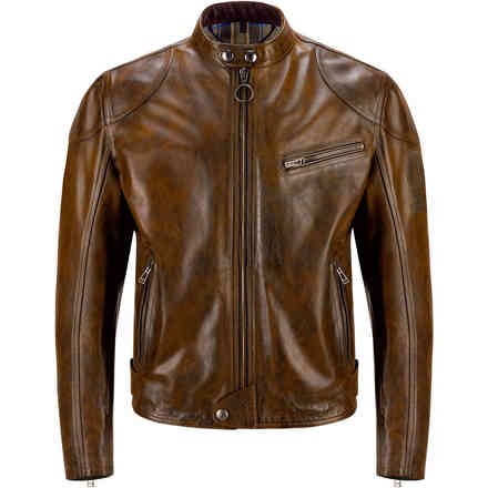 Giacca in pelle Supreme marrone Belstaff