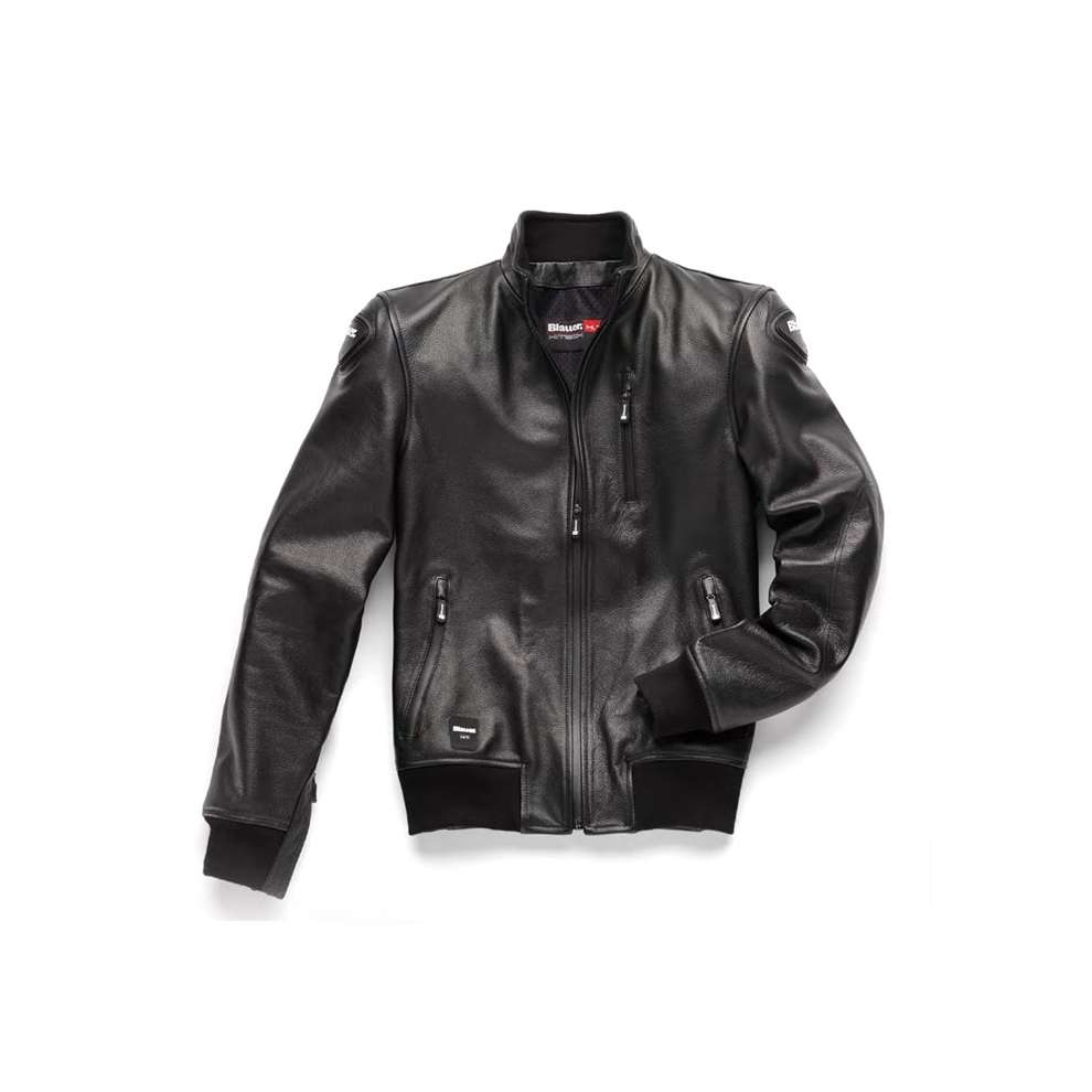 Giacca Indirect  Pelle Blauer