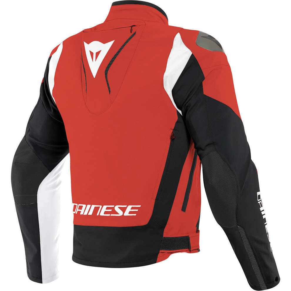 Giacca Indomita D-Dry Xt Lava rosso nero opaco bianco Dainese