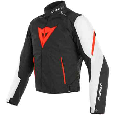 Giacca Laguna Seca 3 D-Dry bianco rosso fluo nero Dainese