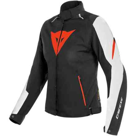 Giacca Laguna Seca 3 Lady D-Dry bianco rosso fluo Dainese