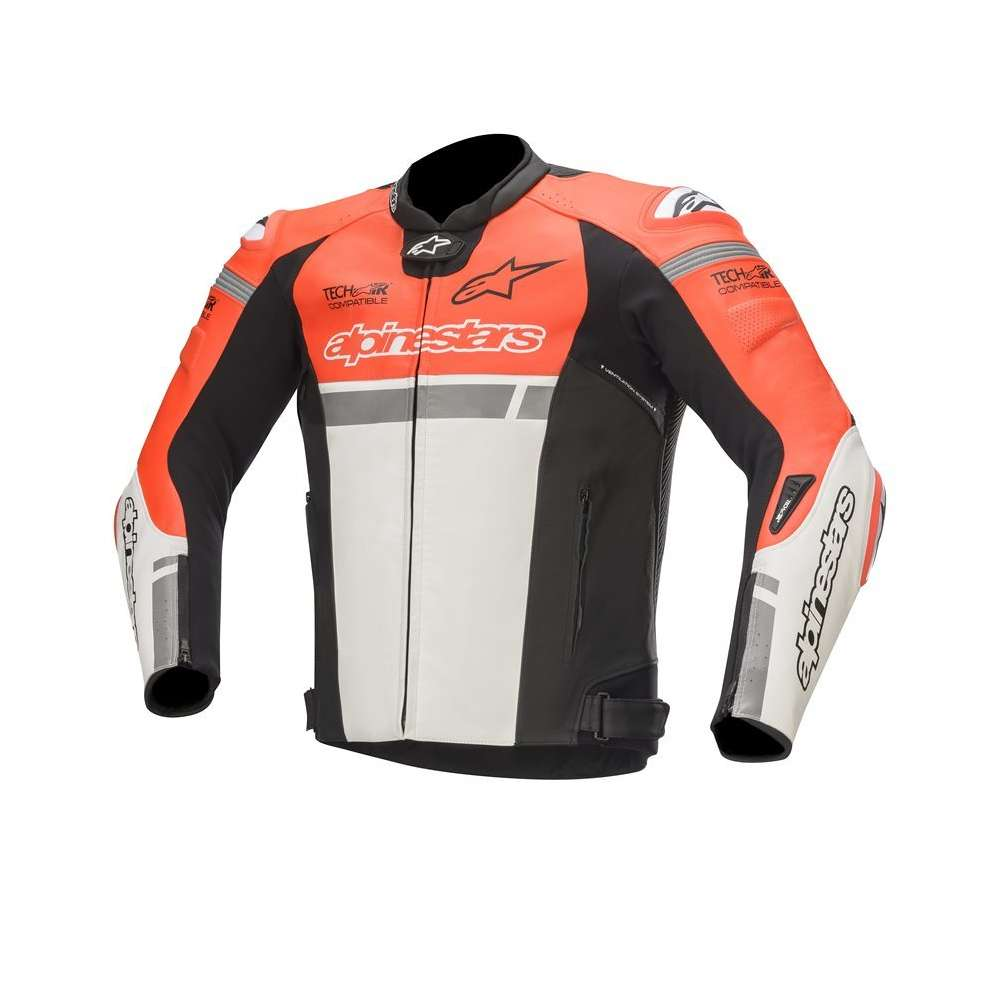 Giacca Missile Ignition  Tech-Air rosso fluo bianco nero Alpinestars