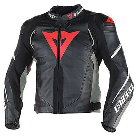 Giacca pelle Super Speed D1 Nero-Antracite-Bianco Dainese
