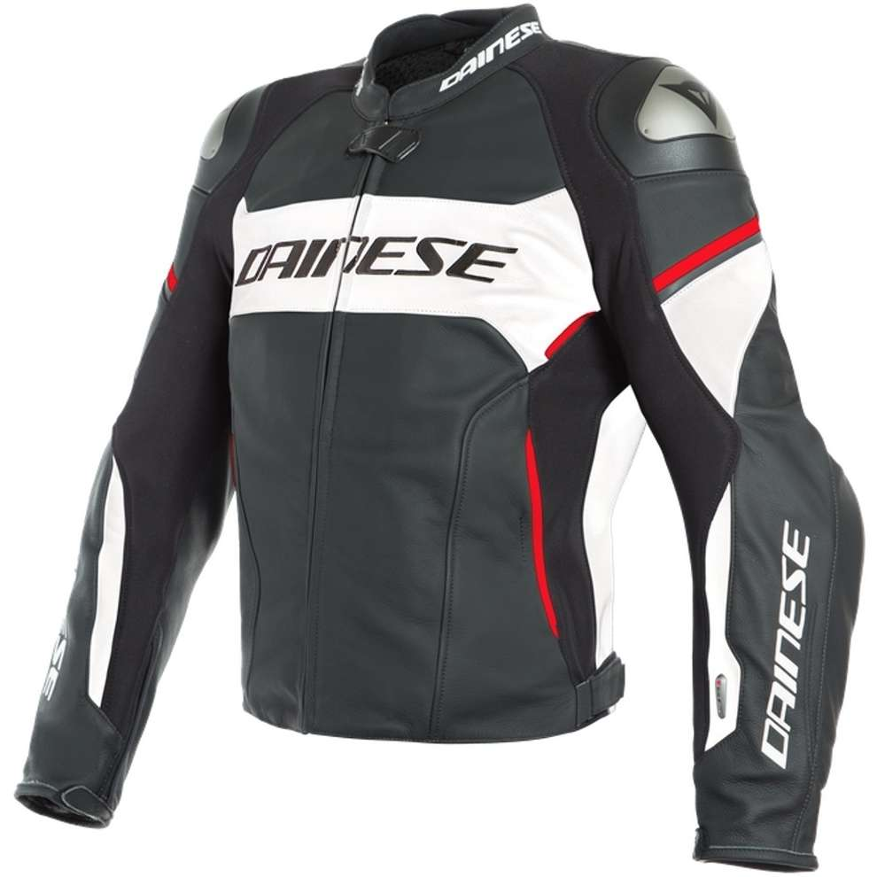 Giacca Racing 3 D-Air nero bianco rosso Dainese