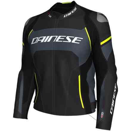 Giacca Racing 3 D-Air nero opaco grigio carbon giallo fluo Dainese