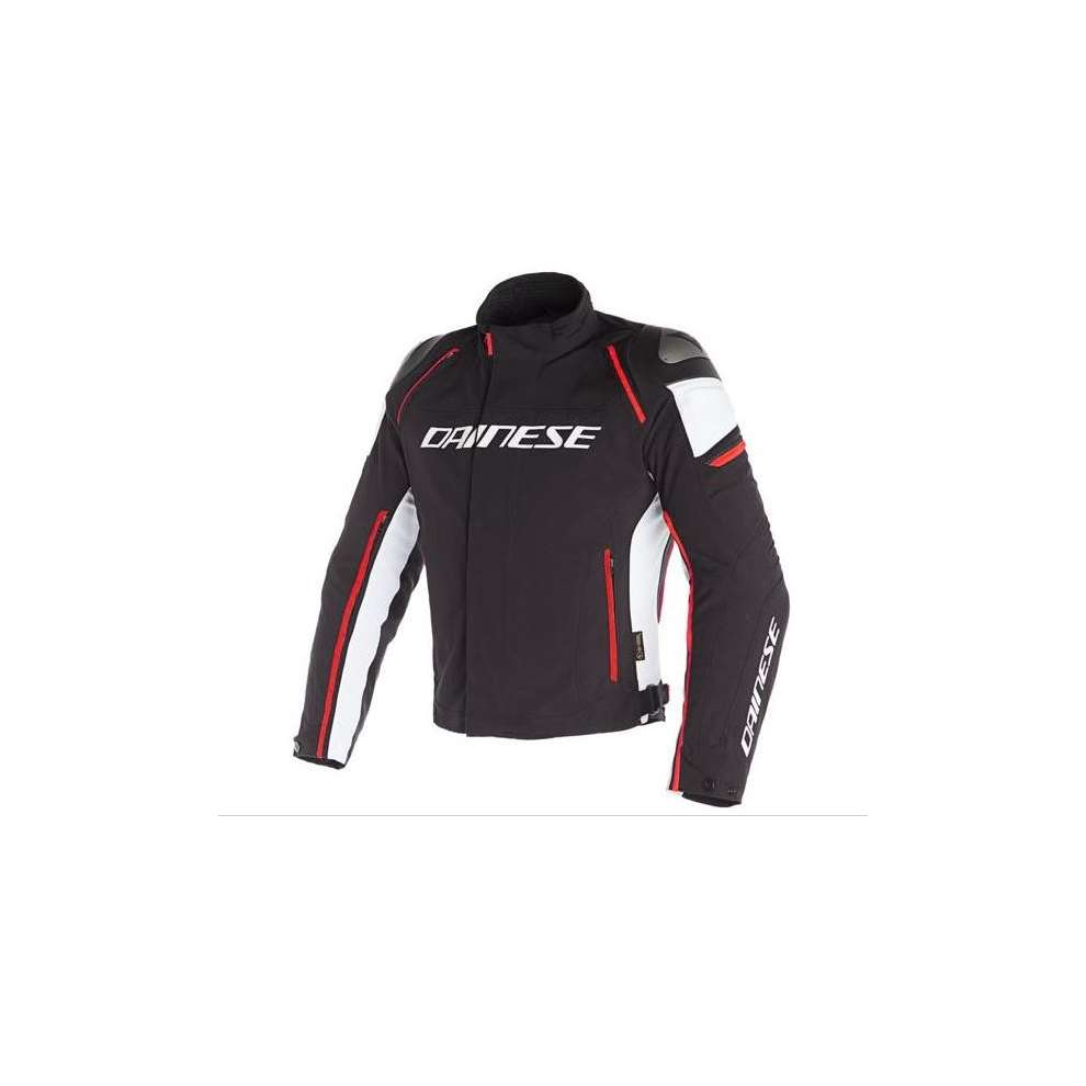 Giacca Racing 3 D-Dry nero bianco rosso fluo Dainese