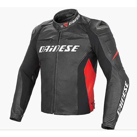 Giacca Racing D1 nero-rosso Dainese