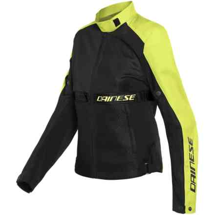 Giacca Ribelle Air Lady nero giallo fluo Dainese
