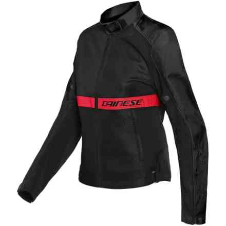 Giacca Ribelle Air Lady nero rosso fluo Dainese