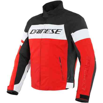 Giacca Saetta D-Dry bianca lava rosso nero Dainese