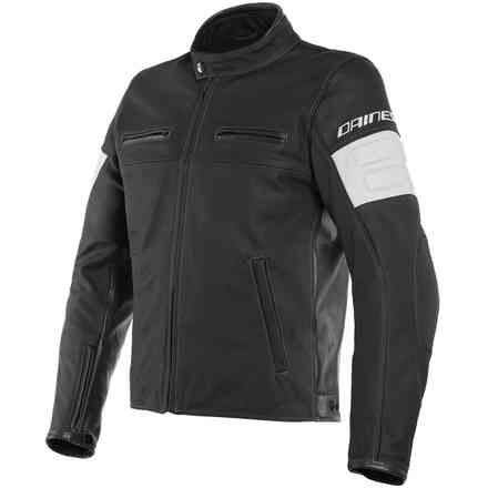 Giacca San Diego Leath Jacket Perf. Blk Dainese