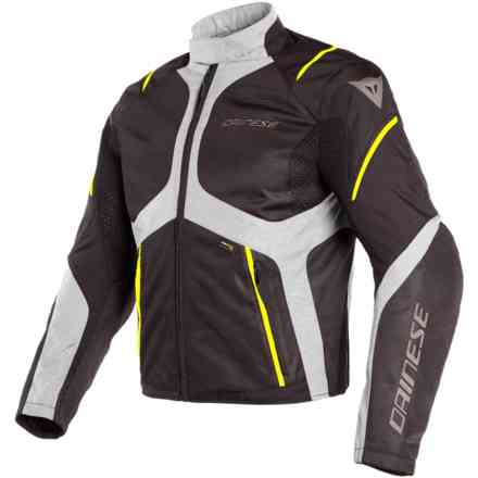 Giacca Sauris D-Dry nero quarry giallo fluo Dainese