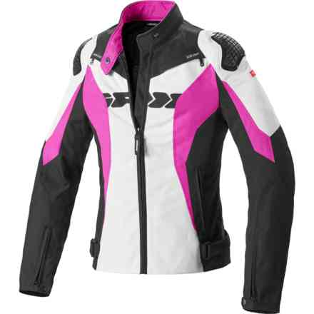 Giacca Sport Warrior Tex Lady Nero Fucsia Spidi