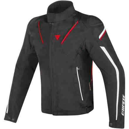 Giacca Stream Line D-dry nero bianco rosso Dainese