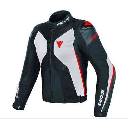 Giacca Super Rider D-Dry bianco nero rosso Dainese