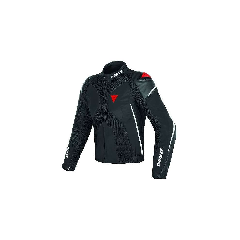 Giacca Super Rider D-Dry nero bianco rosso Dainese
