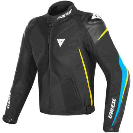 Giacca Super Rider D-Dry nero fire blu giallo fluo Dainese