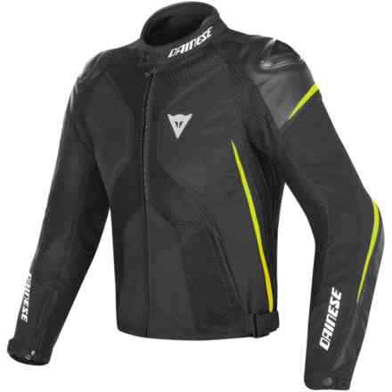 Giacca Super Rider D-Dry nero giallo fluo Dainese