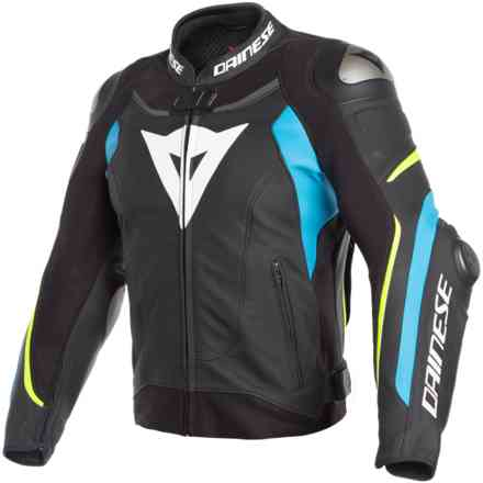 Giacca Super Speed 3 nero fire blu giallo fluo Dainese
