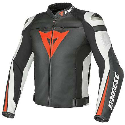 Giacca Super Speed C2 nero-bianco-rosso fluo Dainese