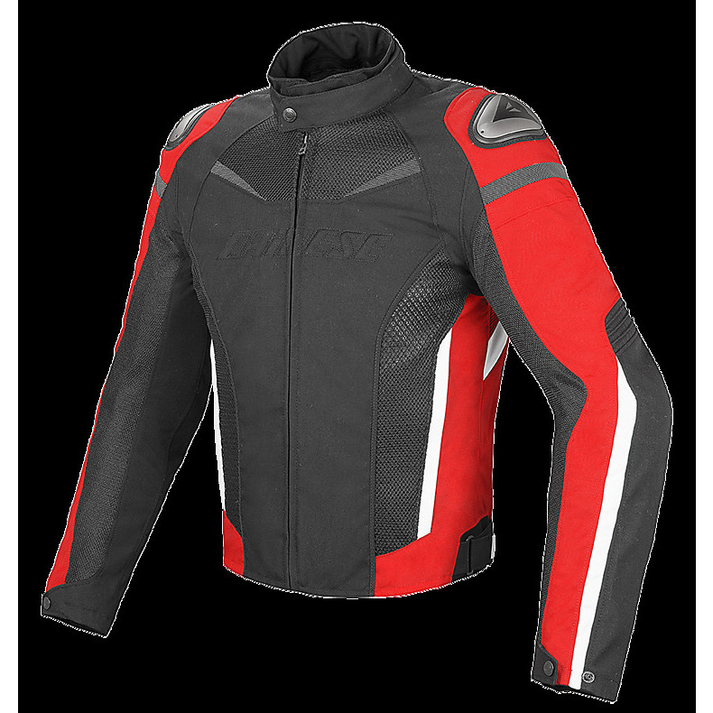 Giacca Super Speed D-Dry nero-rosso Dainese