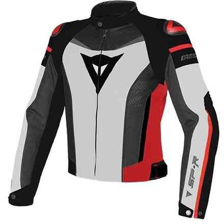 Giacca Super Speed Tex Bianco-Nero-Rosso Dainese