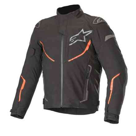 Giacca T-Fuse Sport Shell Wp nero rosso fluo Alpinestars