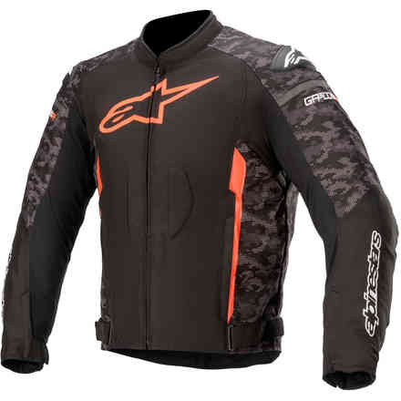 Giacca T-Gp Plus R V3 Blk Camo Red Fluo Alpinestars