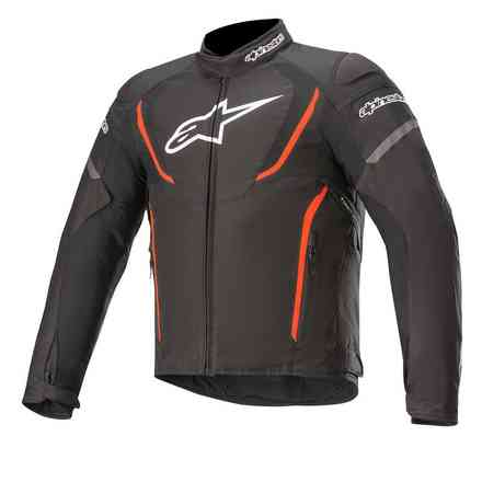 Giacca T-Jaws V3 Waterproof nero rosso fluo Alpinestars