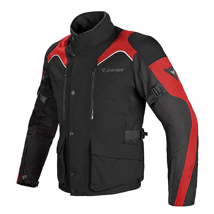 Giacca Tempest d-dry nero-rosso Dainese
