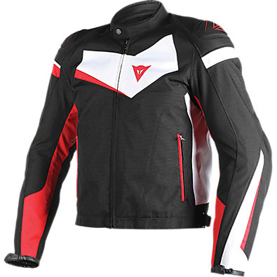 Giacca Veloster tex nero-bianco-rosso Dainese