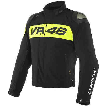 Giacca Vr46 Podium D-Dry Nero/Giallo fluo Dainese