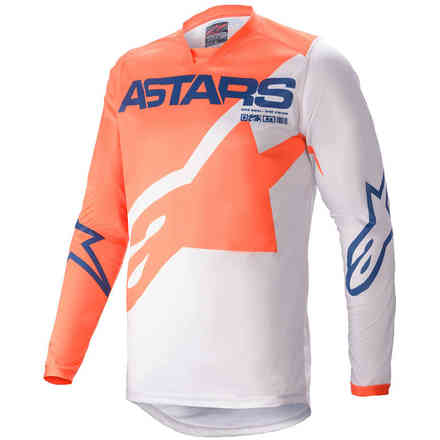 Gittergewebe Cross Racer Braap Orange  Hellgrau Dunkelblau Alpinestars