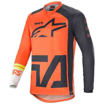 Gittergewebe Cross Racer Compass Orange Anthrazit  Weiß Alpinestars