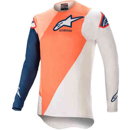 Gittergewebe  Cross Supertech Blaze Orange Dunkelblau  Alpinestars