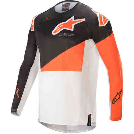 Gittergewebe Cross Techstar Factory Anthrazit Orange Weiß Alpinestars