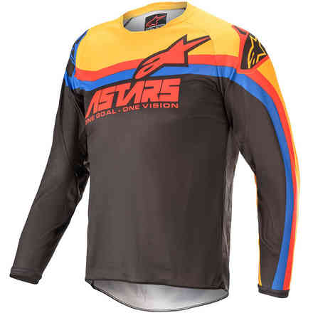 Gittergewebe Cross Youth Racer Venom Schwarz Rot Orange Alpinestars