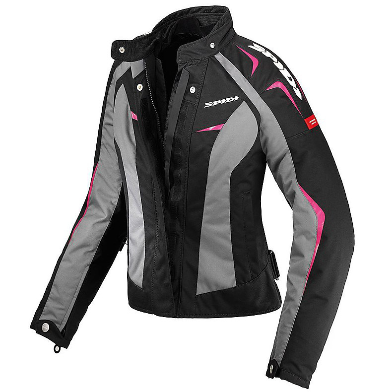 Giubbotto Sport Donna H2Out nero-fucsia Spidi