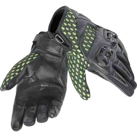 Gloves Air Hero noir jaune fluo Dainese