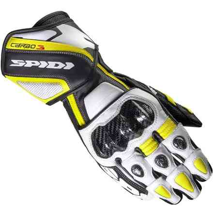 Gloves Carbo 3 white black yellow Spidi