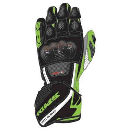 Gloves Carbo 5 Black Green Kawasaki Spidi